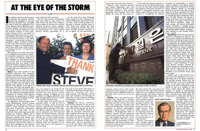 Article Preview: AT THE EYE OF THE STORM, May 1986 | Maclean's