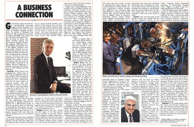 Article Preview: A BUSINESS CONNECTION, May 1986 | Maclean's