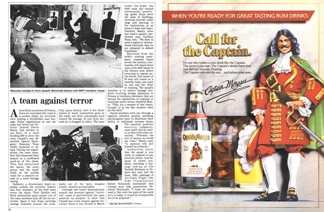 Article Preview: A team against terror, May 1986 | Maclean's
