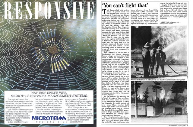 Article Preview: 'You can't fight that', May 1986 | Maclean's