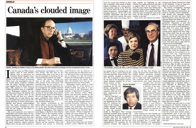 Article Preview: Canada's clouded image, May 1986 | Maclean's