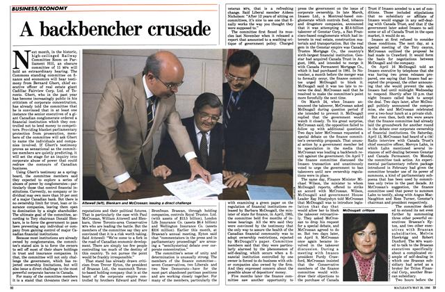 Article Preview: A backbencher crusade, May 1986 | Maclean's