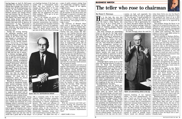 Article Preview: The teller who rose to chairman, May 1986 | Maclean's