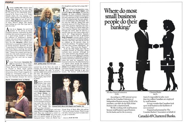 Article Preview: PEOPLE, May 1986   Maclean's