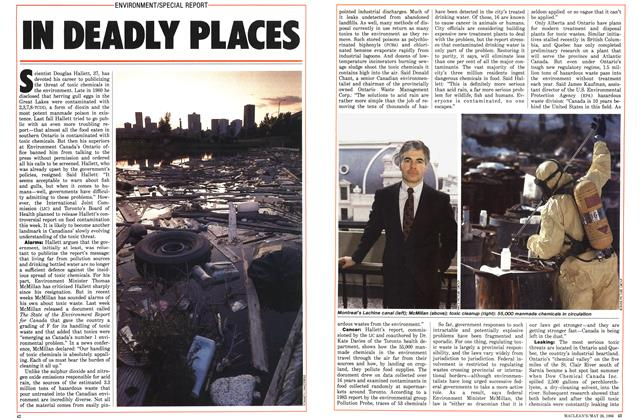 Article Preview: IN DEADLY PLACES, May 1986 | Maclean's