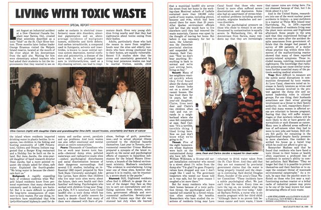 Article Preview: LIVING WITH TOXIC WASTE, May 1986 | Maclean's
