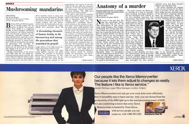 Article Preview: Mushrooming mandarins, May 1986 | Maclean's