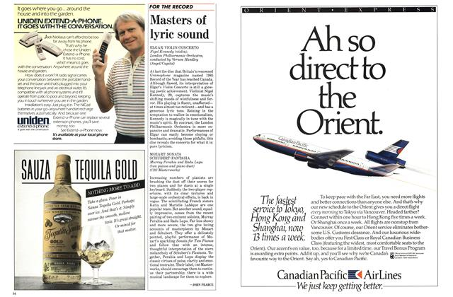 Article Preview: Masters of lyric sound, May 1986 | Maclean's