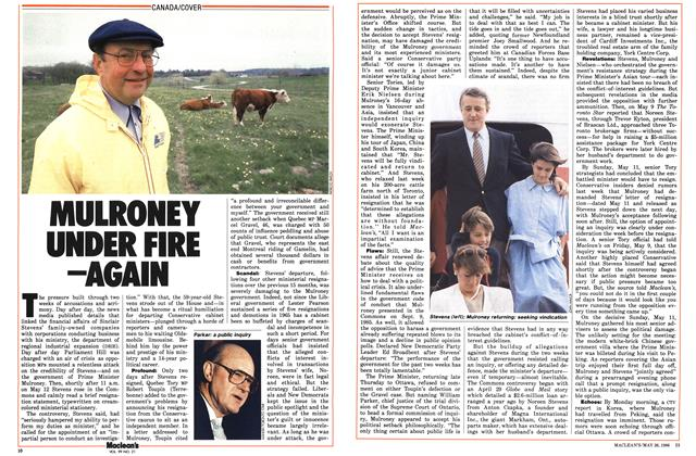Article Preview: MULRONEY UNDER FIRE —AGAIN, May 1986 | Maclean's
