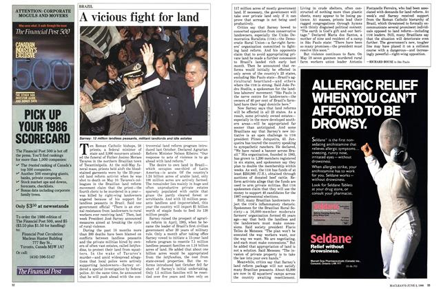 Article Preview: A vicious fight for land, June 1986 | Maclean's