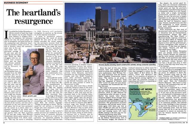 Article Preview: The heartland's resurgence, June 1986 | Maclean's