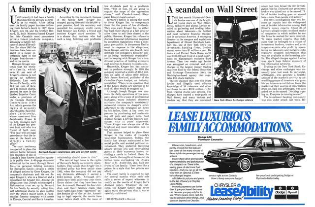 Article Preview: A family dynasty on trial, June 1986 | Maclean's