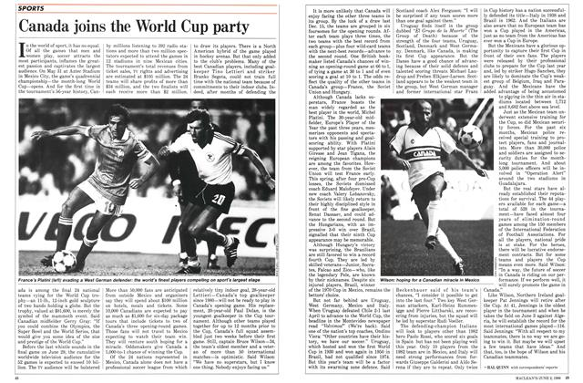Article Preview: Canada joins the World Cup party, June 1986 | Maclean's