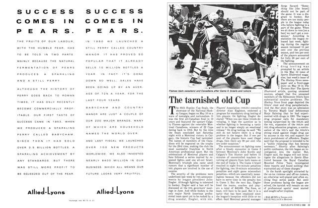 Article Preview: The tarnished old Cup, June 1986 | Maclean's