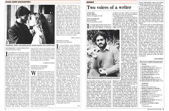 Article Preview: Two voices of a writer, June 1986 | Maclean's