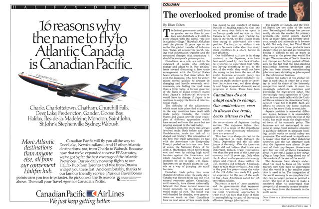 Article Preview: The overlooked promise of trade, June 1986 | Maclean's
