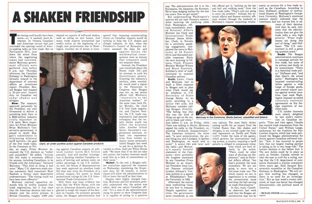 Article Preview: A SHAKEN FRIENDSHIP, June 1986 | Maclean's