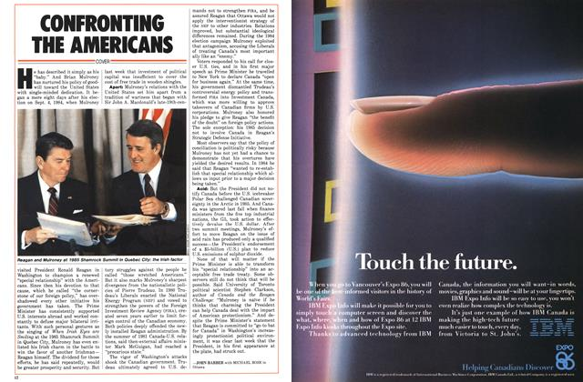Article Preview: CONFRONTING THE AMERICANS, June 1986 | Maclean's