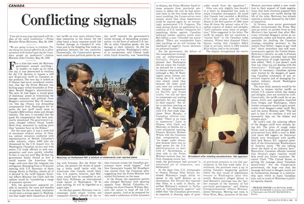 Article Preview: Conflicting signals, June 1986 | Maclean's