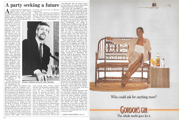 Article Preview: A party seeking a future, June 1986 | Maclean's
