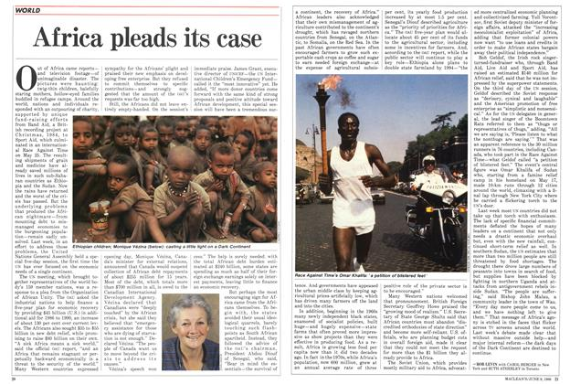 Article Preview: Africa pleads its case, June 1986 | Maclean's
