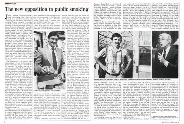 Article Preview: The new opposition to public smoking, June 1986 | Maclean's