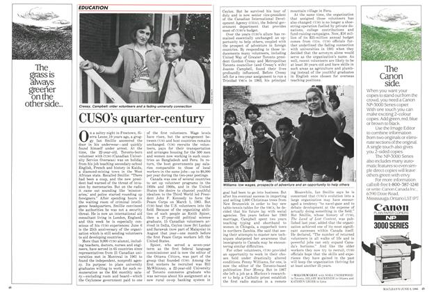 Article Preview: CUSO's quarter-century, June 1986 | Maclean's