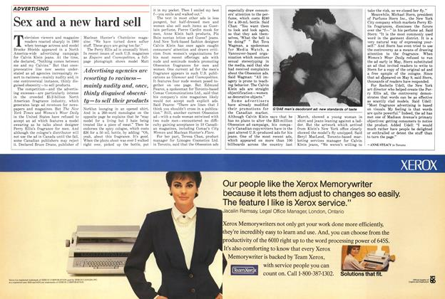 Article Preview: Sex and a new hard sell, June 1986 | Maclean's
