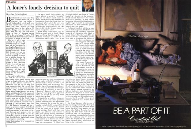 Article Preview: A loner's lonely decision to quit, June 1986 | Maclean's