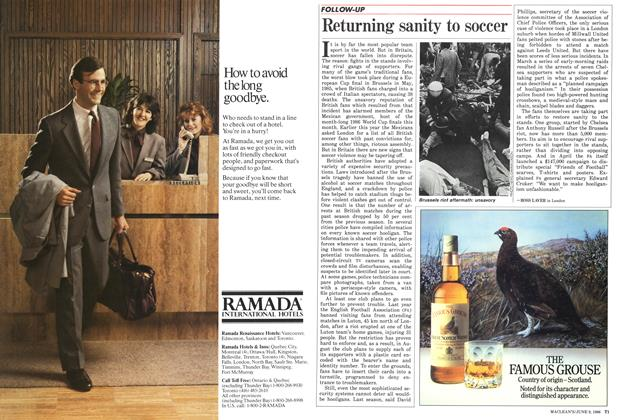 Article Preview: Returning sanity to soccer, June 1986 | Maclean's