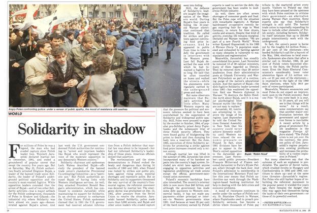 Article Preview: Solidarity in shadow, June 1986 | Maclean's