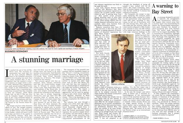 Article Preview: A stunning marriage, June 1986 | Maclean's