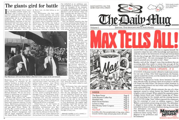 Article Preview: The giants gird for battle, June 1986 | Maclean's