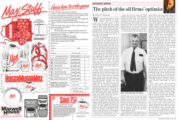 Article Preview: The pitch of the oil firms' optimist, June 1986 | Maclean's