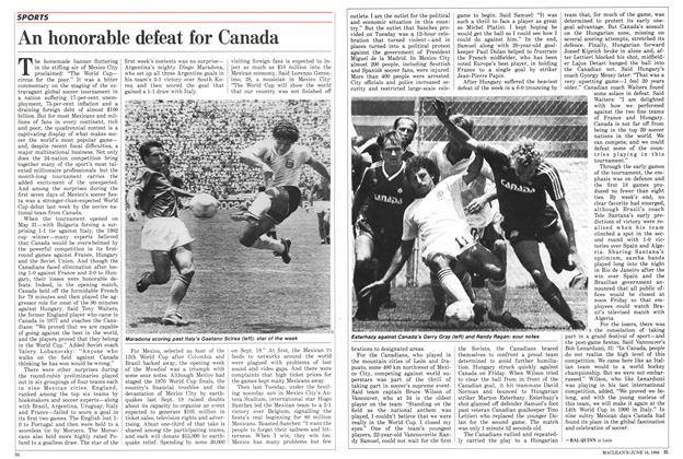 Article Preview: An honorable defeat for Canada, June 1986 | Maclean's