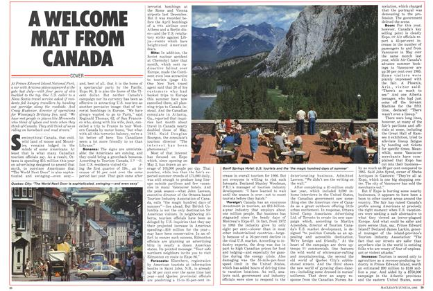 Article Preview: A WELCOME MAT FROM CANADA, June 1986 | Maclean's