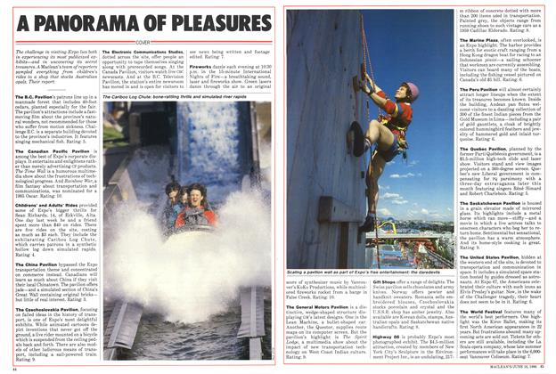Article Preview: A PANORAMA OF PLEASURES, June 1986 | Maclean's