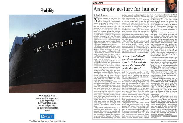 Article Preview: An empty gesture for hunger, June 1986 | Maclean's