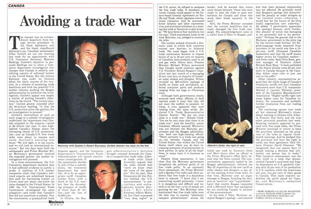 Article Preview: Avoiding a trade war, June 1986 | Maclean's