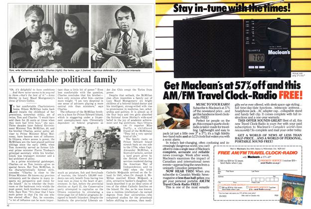 Article Preview: A formidable political family, June 1986 | Maclean's