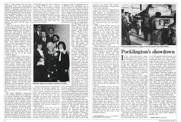 Article Preview: Pocklington's showdown, June 1986 | Maclean's