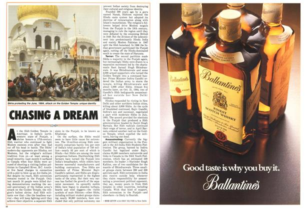 Article Preview: CHASING A DREAM, June 1986 | Maclean's