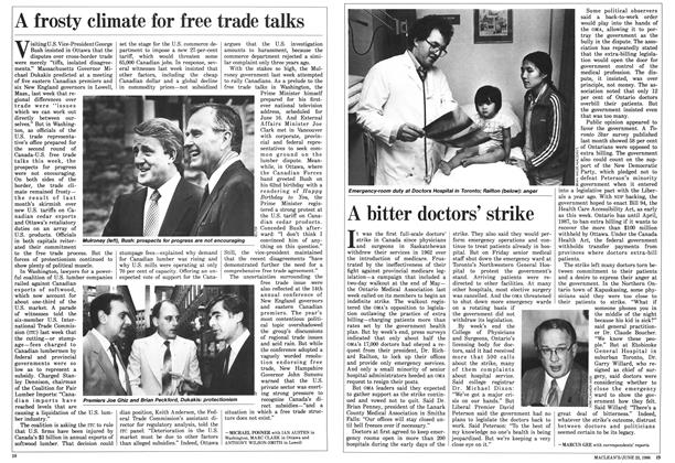 Article Preview: A frosty climate for free trade talks, June 1986 | Maclean's