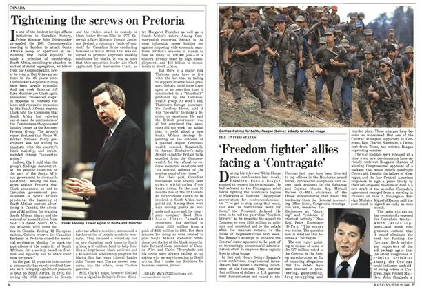 Article Preview: Tightening the screws on Pretoria, June 1986 | Maclean's