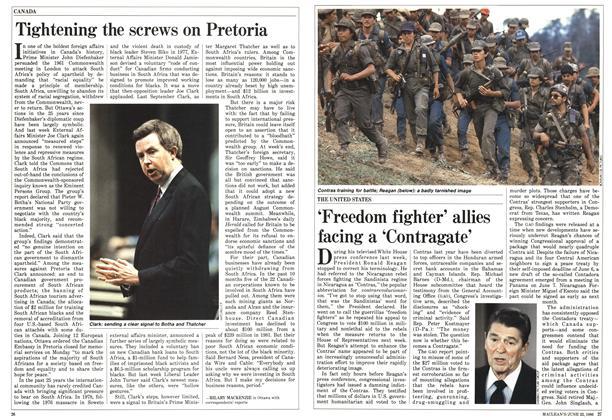 Article Preview: Tightening the screws on Pretoria, June 1986 | Maclean's