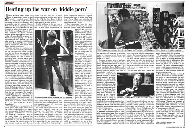 Article Preview: Heating up the war on 'kiddie porn', June 1986 | Maclean's