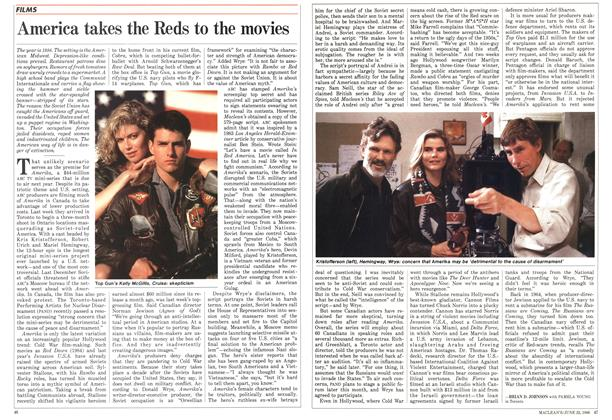 Article Preview: America takes the Reds to the movies, June 1986 | Maclean's