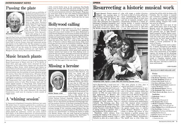 Article Preview: Resurrecting a historic musical work, June 1986 | Maclean's