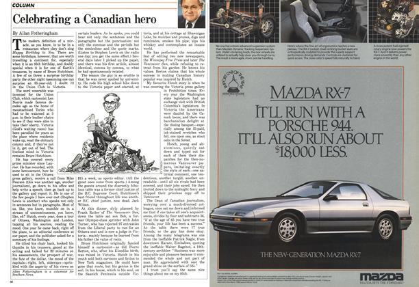 Article Preview: Celebrating a Canadian hero, June 1986 | Maclean's