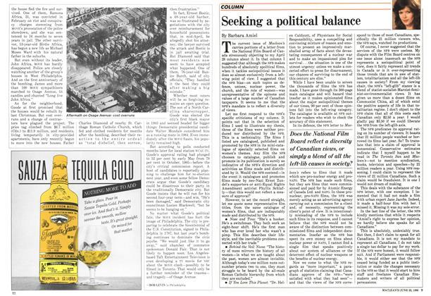 Article Preview: Seeking a political balance, June 1986 | Maclean's